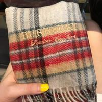 巴寶莉Burberry海外專柜最新男士女士情侶羊絨圍巾