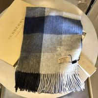 巴寶莉Burberry羊絨羊毛混紡圍巾
