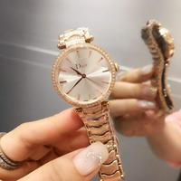 迪奥Dior女士腕表 金壳+20 钻+20