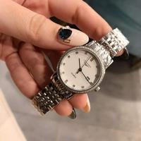 浪琴女士石英钢带腕表
