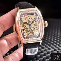 FranckMuller法兰克穆勒两针半镂空透视腕表 光壳 镶钻壳+150 方钻壳+250