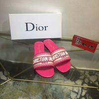 Dior迪奧字母刺繡拖鞋