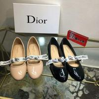 Dior迪奥新款 小圆头平底 进口漆皮系列