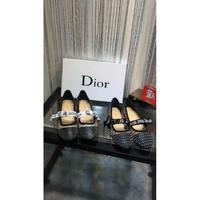Dior迪奥新款 小圆头平底 韩国进口丝网系列