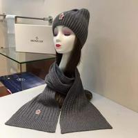 专柜同步蒙口MONCLER[色]原单帽子围巾套装