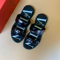 华伦天奴 VALENTINO 春夏拖鞋新款专柜同步进口丝绸皮