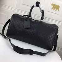 原版货Louis Vuitton 路易威登 LV 全皮压格 旅行袋