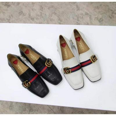 GUCCI 古驰 GG珍珠复古方头单鞋 可两穿的懒人鞋批发