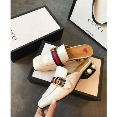 GUCCI 古驰 时尚风向标Gucci古奇官网致美时尚 单鞋半拖鞋方头批发