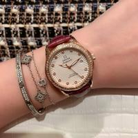 欧米茄-OMEGA女士腕表 玫瑰金+20 钢带+20