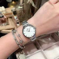 迪奥-Dior女士腕表进口石英机芯 金玫壳+20