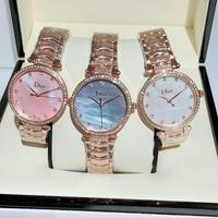 新款迪奥Dior女士腕表 玫瑰金+20 钻+20