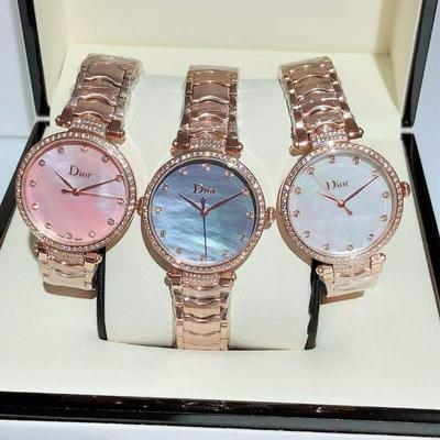 新款迪奥Dior女士腕表 玫瑰金+20 钻+20批发
