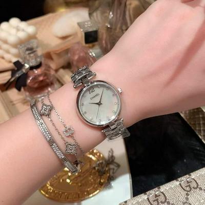 香奈儿-CHANEL女士腕表进口石英机芯 金壳+20批发