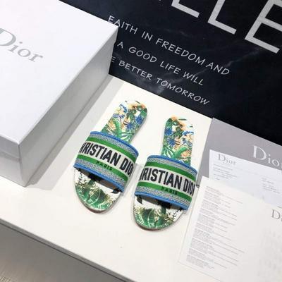 迪奧DIOR春夏度假系列繡花拖鞋這款平底系列批發