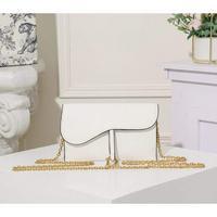 白色手掌紋配原版盒子 Dior 迪奧鏈條包