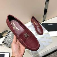 高端货Chanel香奈儿2020早春新款链条logo单鞋