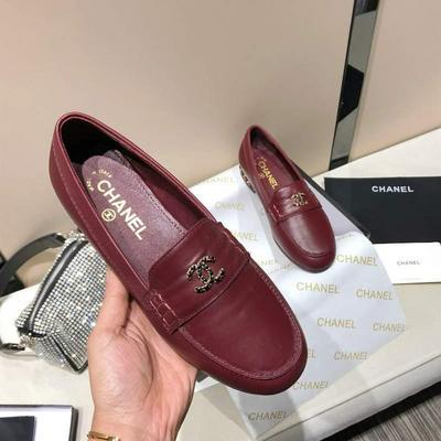 高端货Chanel香奈儿2020早春新款链条logo单鞋批发