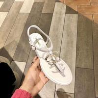 Chanel-2020香奈儿春夏新款珍珠双c夹趾凉鞋️