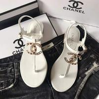 Chanel 2020香奈兒 春夏新款雙c夾趾涼鞋?
