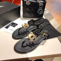 Chanel 2020香奈儿 春夏新款双c夹趾凉鞋️