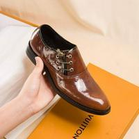 LV LOUISVUITTON路易威登專柜商務風皮鞋