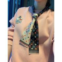 LV小丝巾围巾LV丝带海外限量款真丝斜纹面料