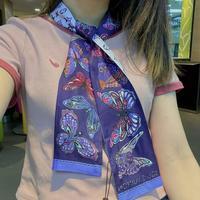 超好看LV丝巾丝巾围巾双层真丝多种用途绑包包