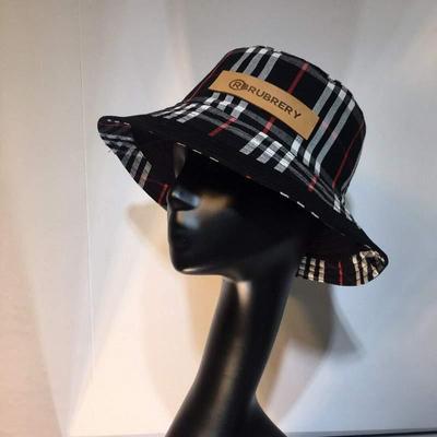 巴宝莉Burberry双面双标格子渔夫帽跑量款批发