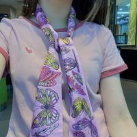 超好看LV丝巾围巾双层真丝多种用途绑包包上