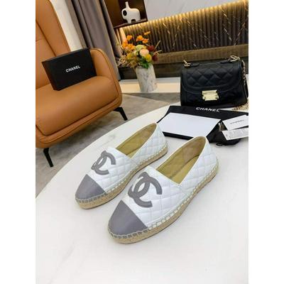 Chanel香奈儿升级版前后菱格纹拼色渔夫鞋批发