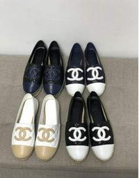 21ss新款Chanel香奈儿 菱格纹拼色渔夫鞋 新配色